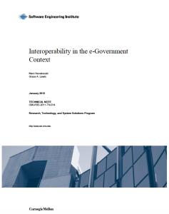 eGov Interoperability SEI
